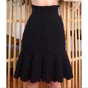 Alexander McQueen velvet quilted skirt